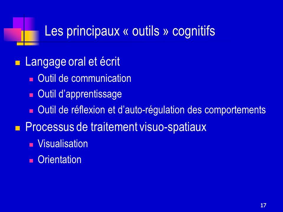 Les principaux « outils » cognitifs
