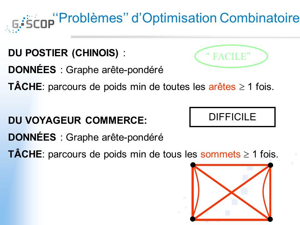 ''Problèmes'' d'Optimisation Combinatoire