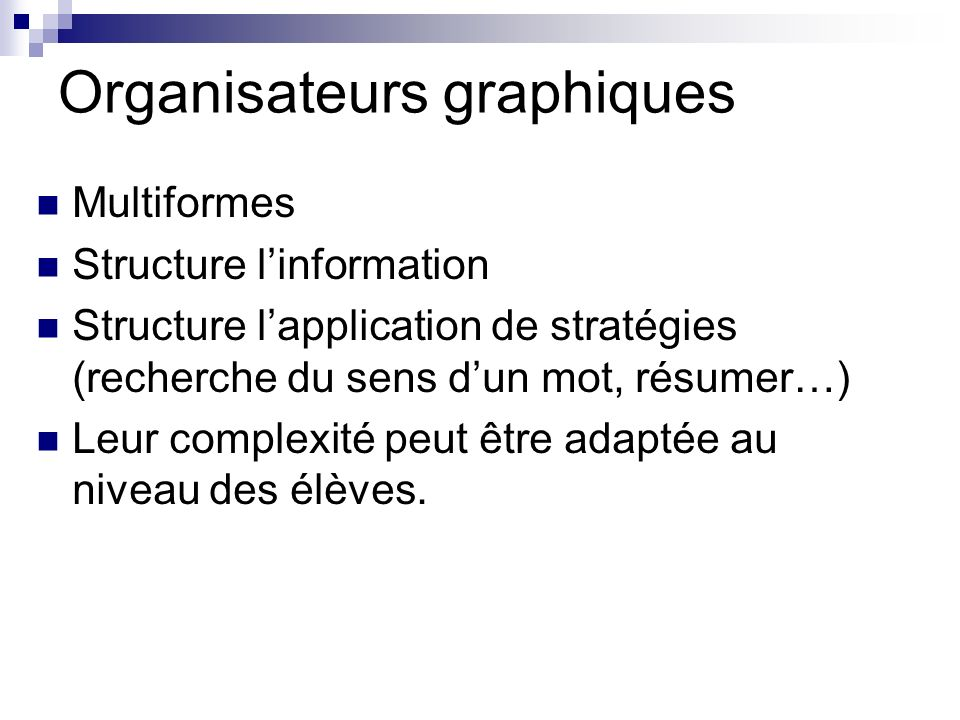 Organisateurs graphiques