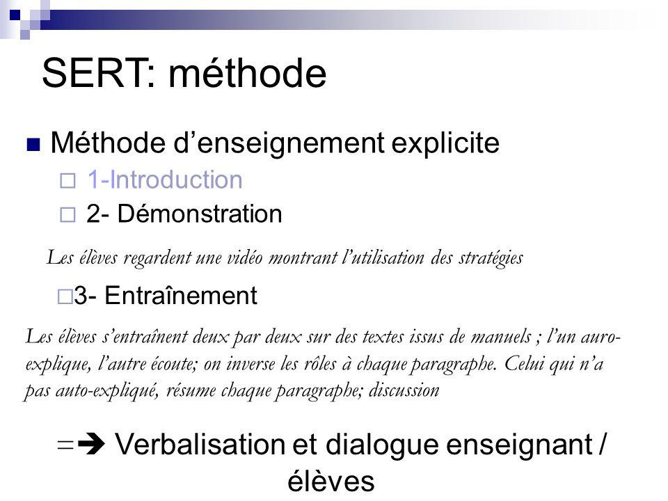 = Verbalisation et dialogue enseignant / élèves