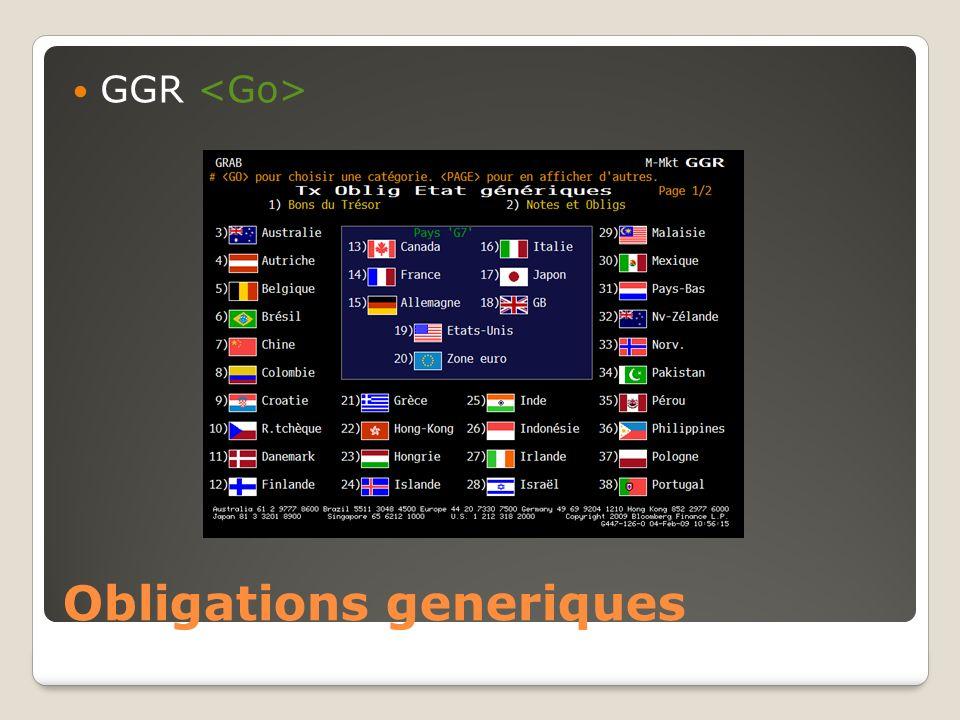 Obligations generiques
