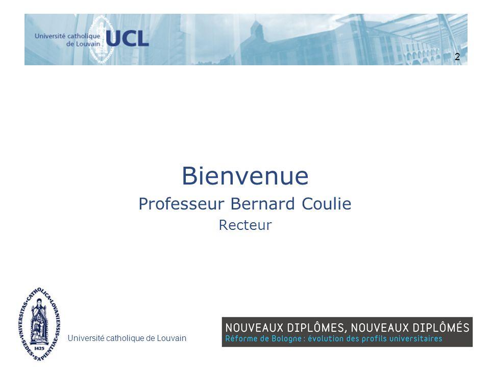 Professeur Bernard Coulie