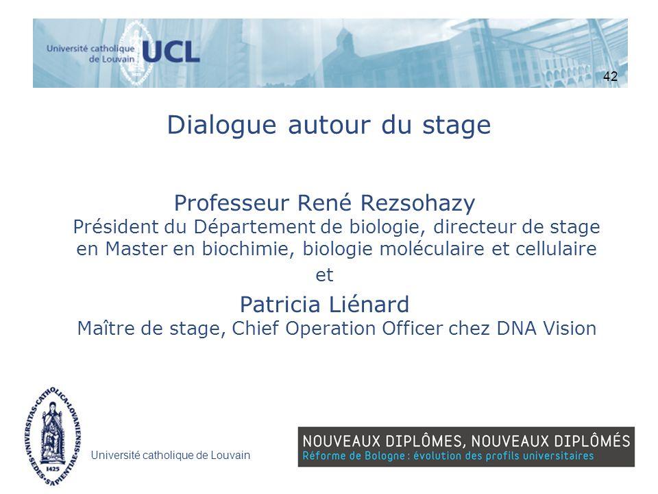 Dialogue autour du stage