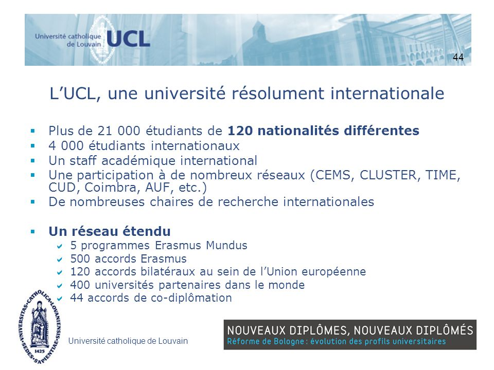 L'UCL, une université résolument internationale