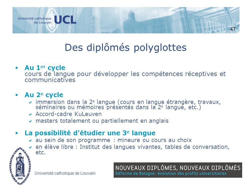 Des diplômés polyglottes