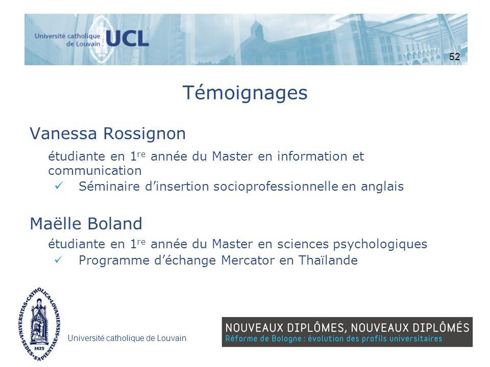 Témoignages Vanessa Rossignon