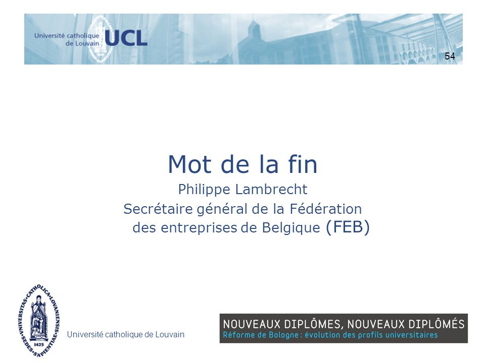 Secrétaire général de la Fédération des entreprises de Belgique (FEB)