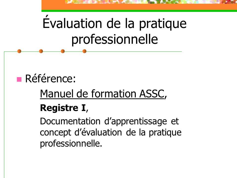 Évaluation de la pratique professionnelle