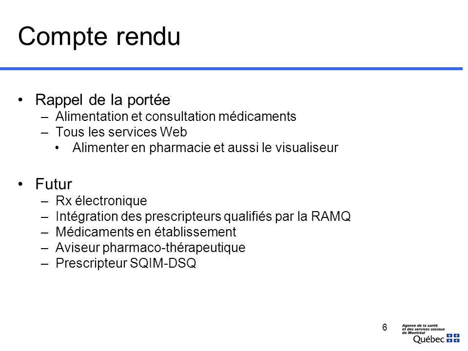 Déploiement Région dans la de Montréal (Région 06)