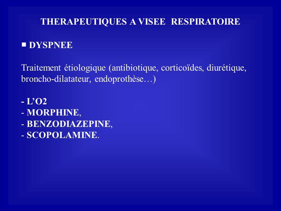 THERAPEUTIQUES A VISEE RESPIRATOIRE