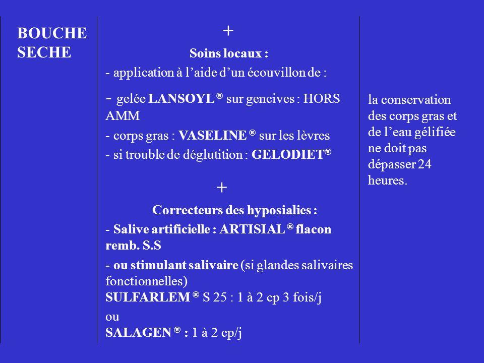 gelée LANSOYL ® sur gencives : HORS AMM