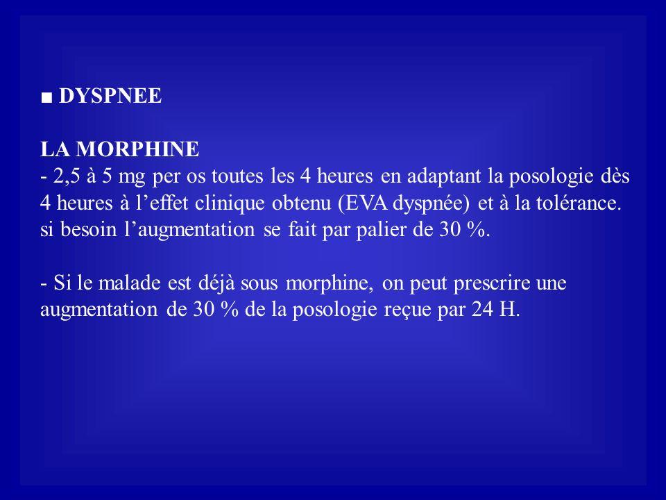 ■ DYSPNEE LA MORPHINE.