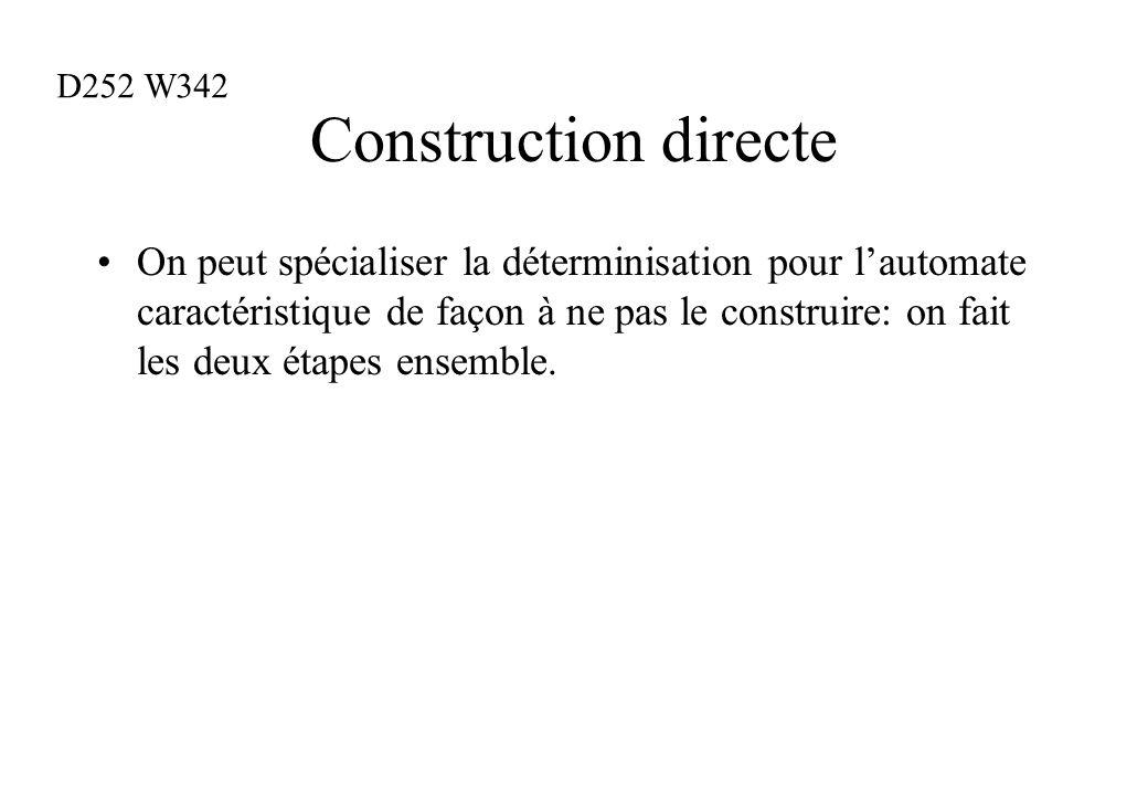 D252 W342 Construction directe.