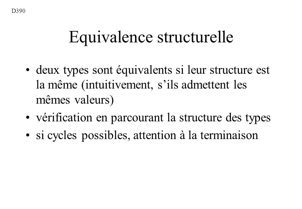 Equivalence structurelle