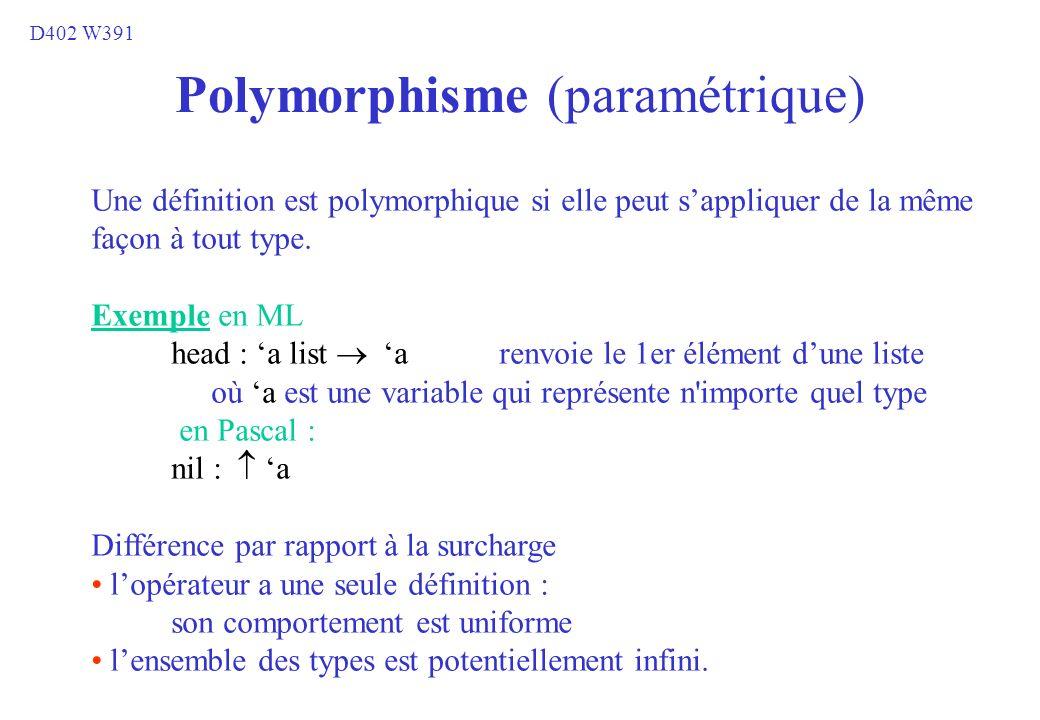 Polymorphisme (paramétrique)