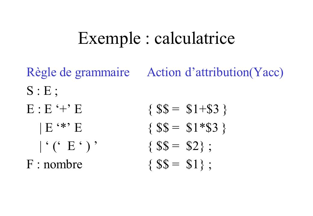 Exemple : calculatrice