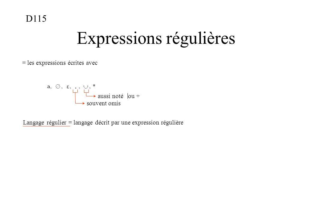 Expressions régulières