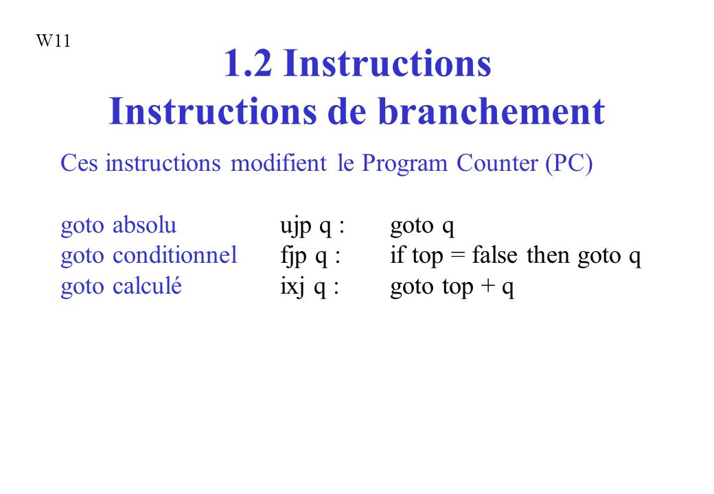 1.2 Instructions Instructions de branchement