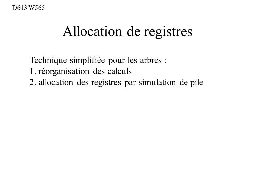 Allocation de registres