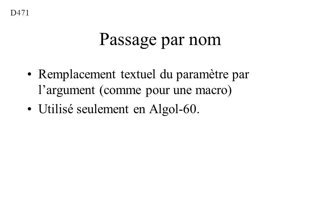 D471 Passage par nom.