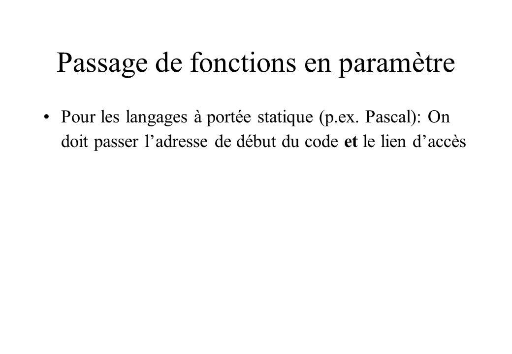 Passage de fonctions en paramètre
