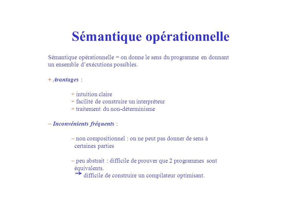 Sémantique opérationnelle