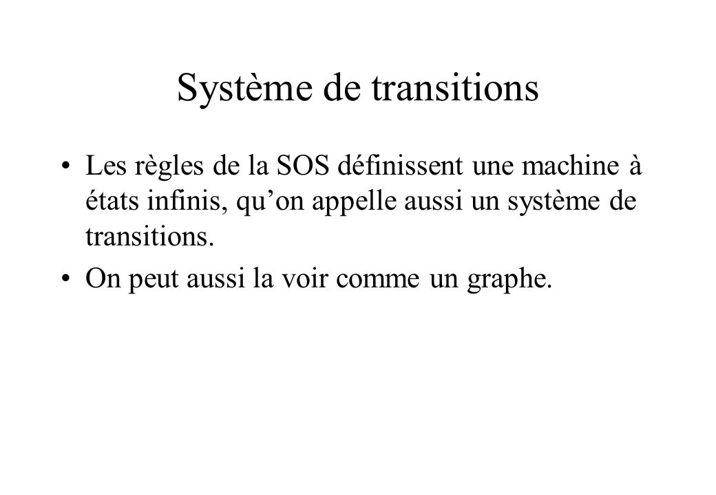 Système de transitions
