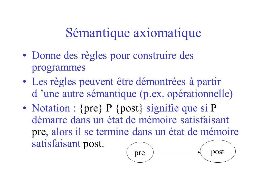 Sémantique axiomatique
