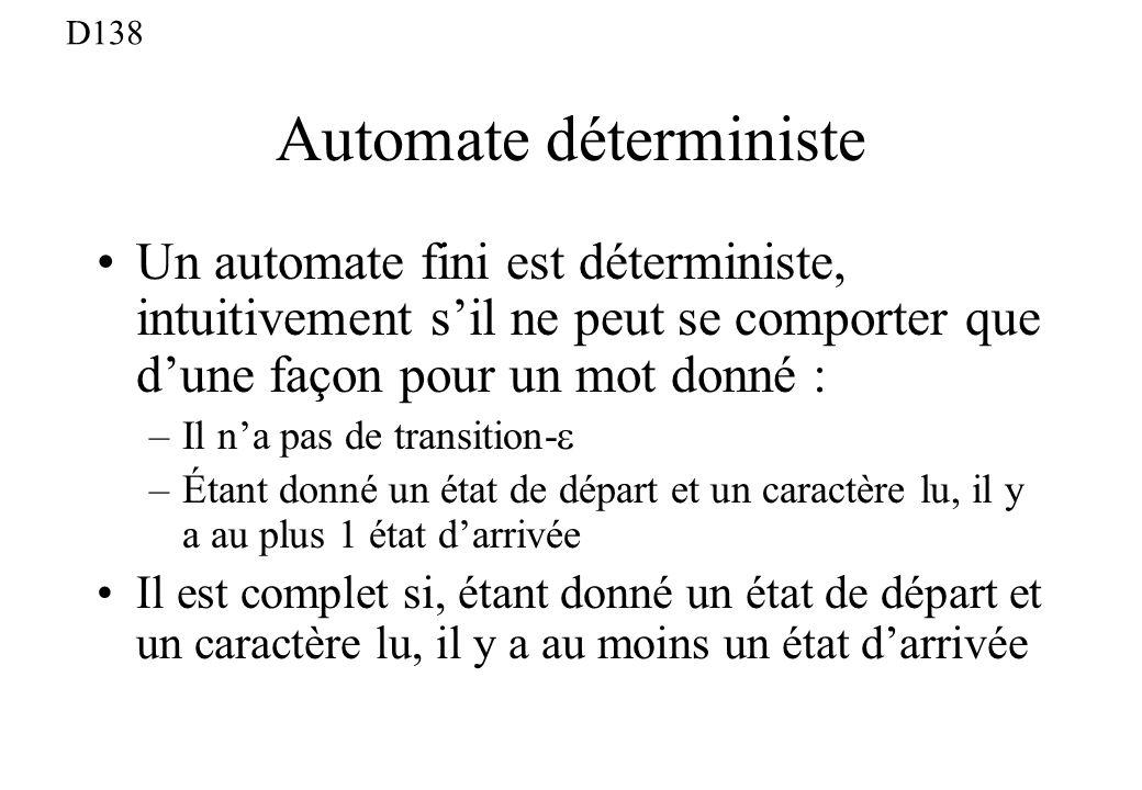 Automate déterministe