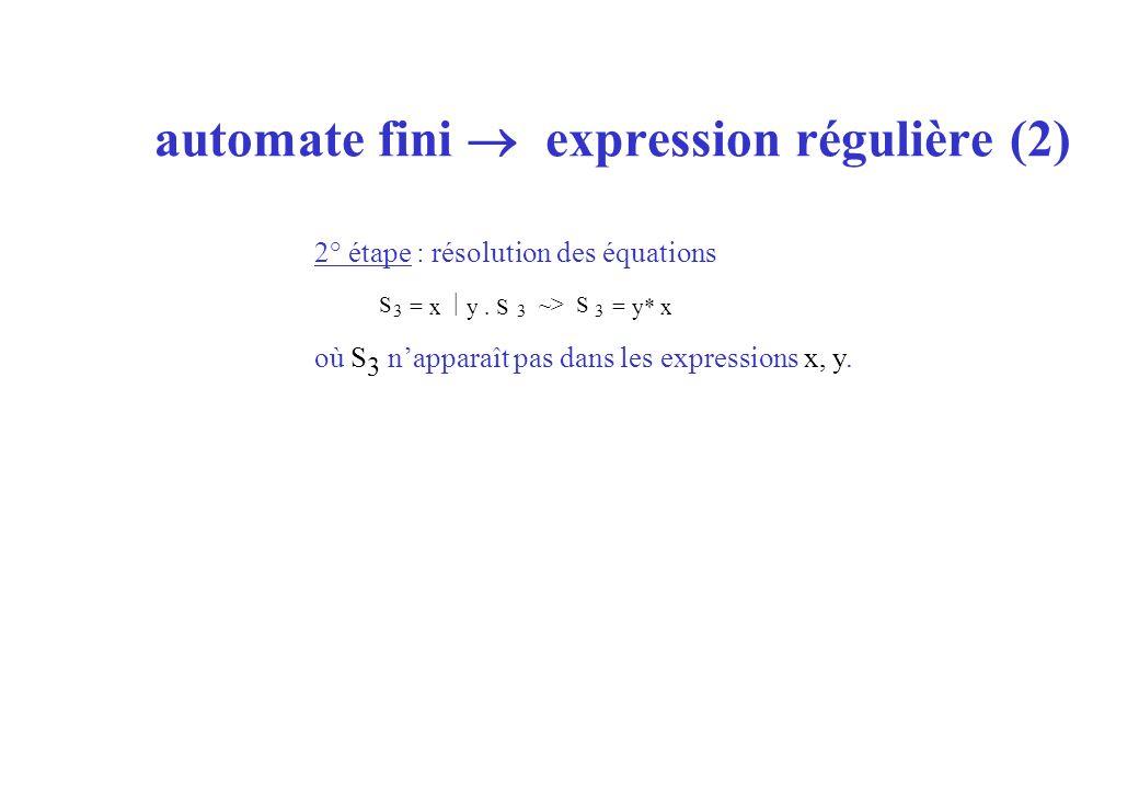 automate fini  expression régulière (2)