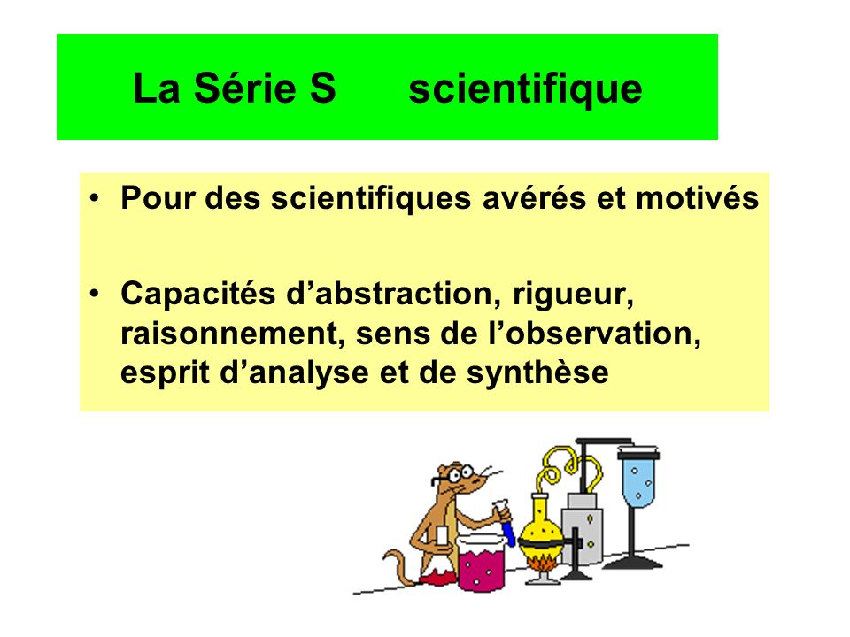 La Série S scientifique
