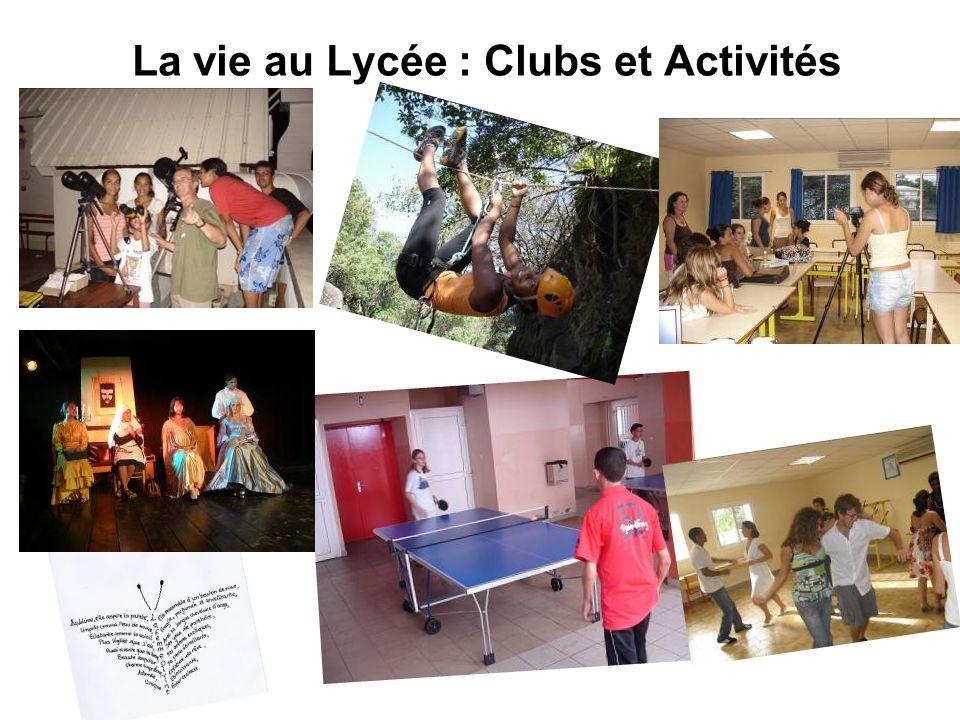 La vie au Lycée : Clubs et Activités