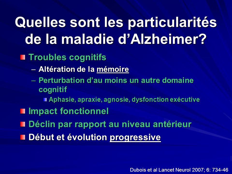 Quelles sont les particularités de la maladie d'Alzheimer