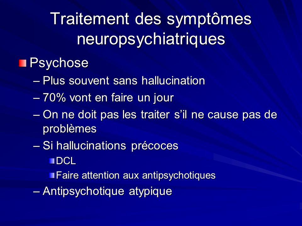 Traitement des symptômes neuropsychiatriques