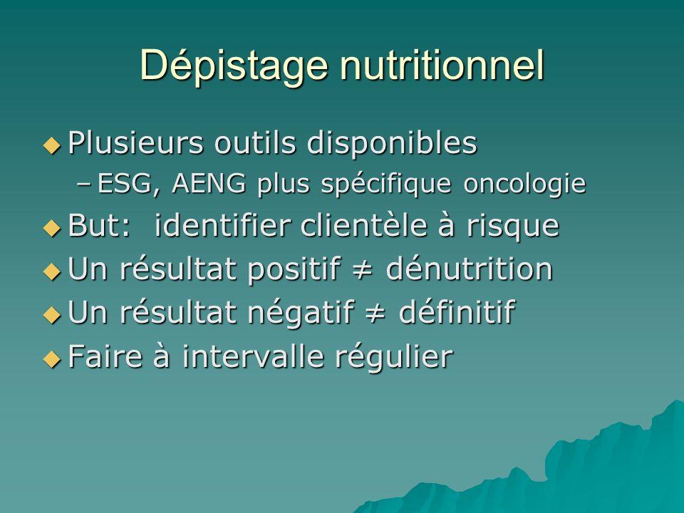 Dépistage nutritionnel
