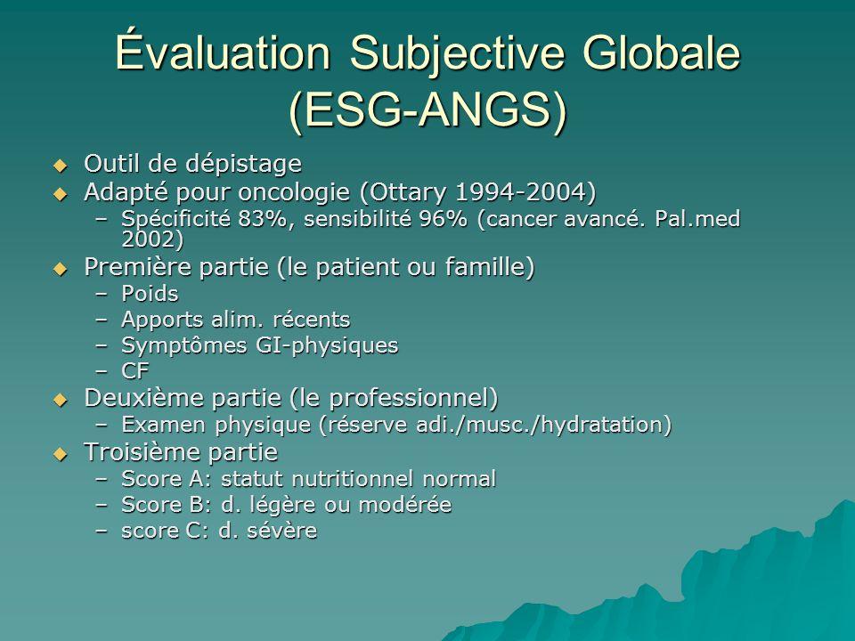 Évaluation Subjective Globale (ESG-ANGS)
