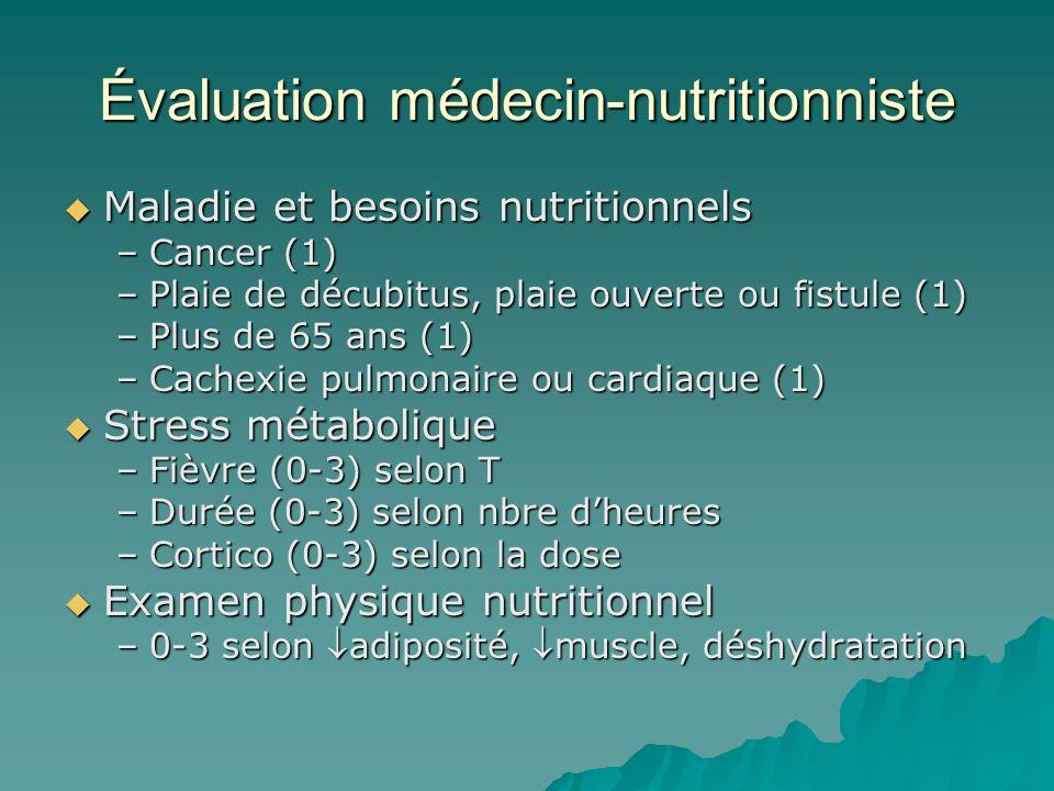 Évaluation médecin-nutritionniste