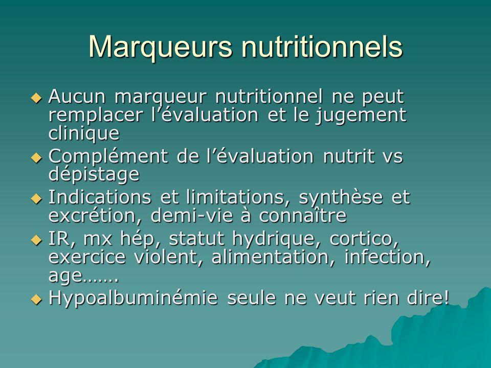 Marqueurs nutritionnels
