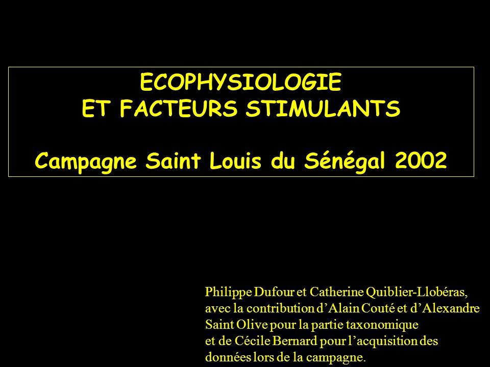 ECOPHYSIOLOGIE ET FACTEURS STIMULANTS