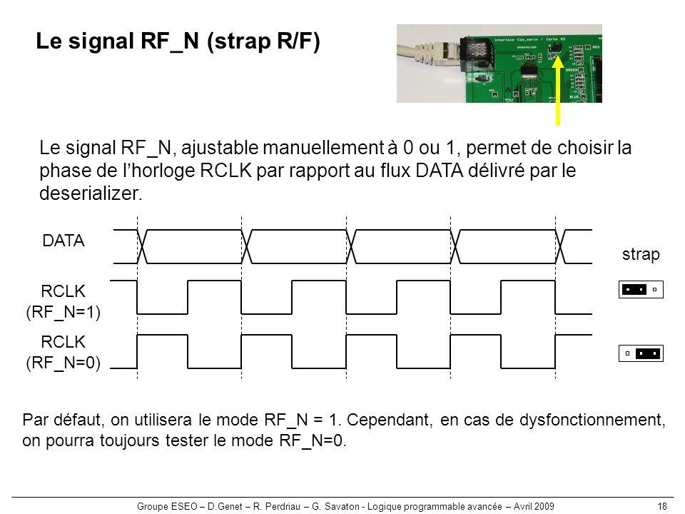 Le signal RF_N (strap R/F)