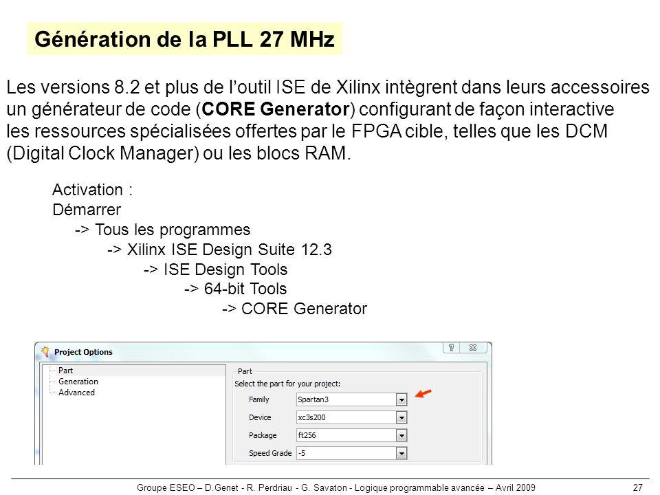 Génération de la PLL 27 MHz