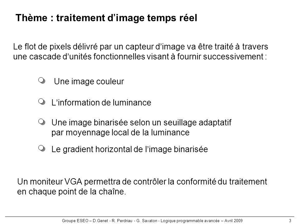 Thème : traitement d'image temps réel