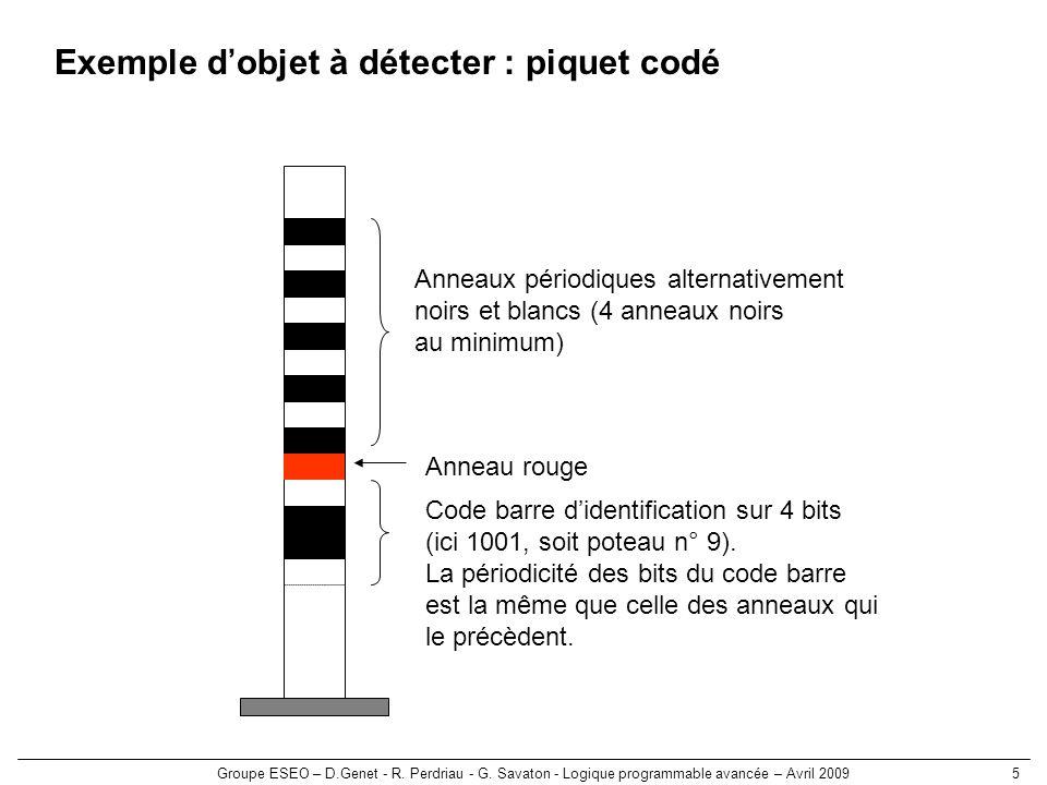Exemple d'objet à détecter : piquet codé