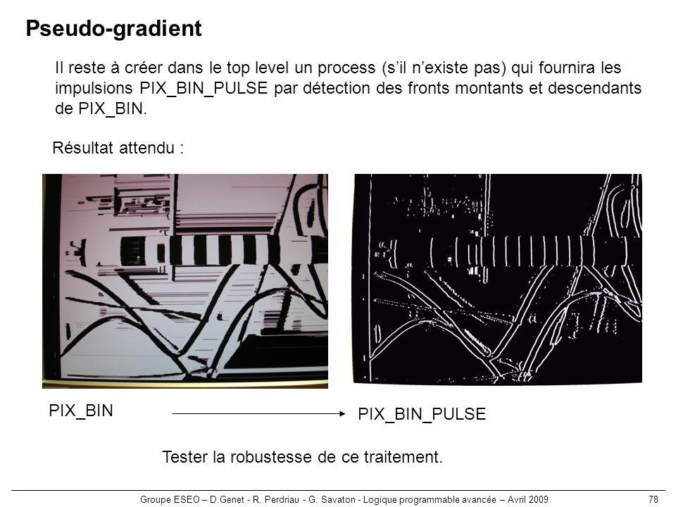 Pseudo-gradient Il reste à créer dans le top level un process (s'il n'existe pas) qui fournira les.