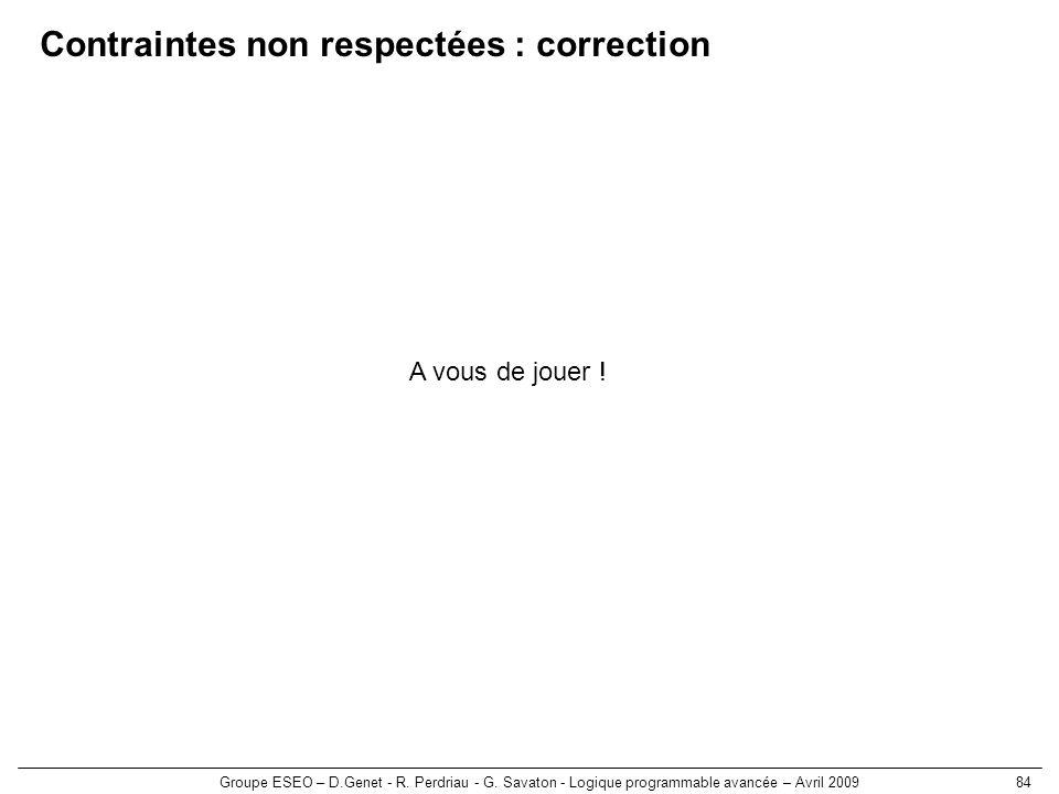 Contraintes non respectées : correction
