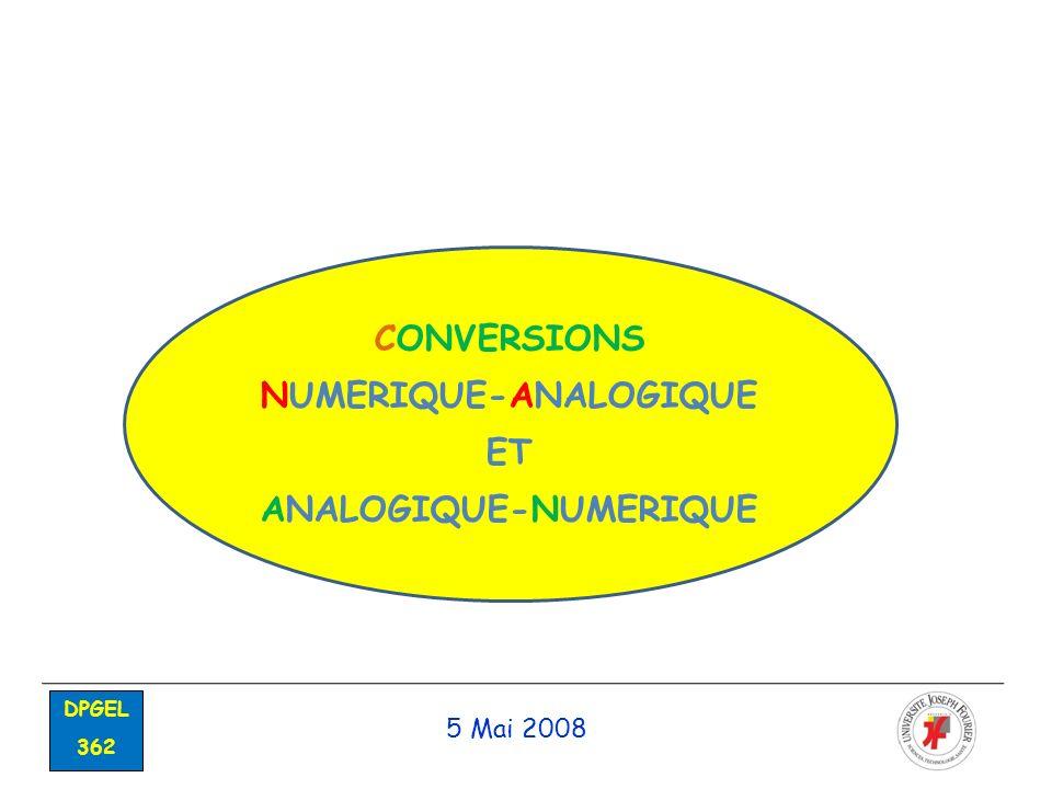 NUMERIQUE-ANALOGIQUE ANALOGIQUE-NUMERIQUE