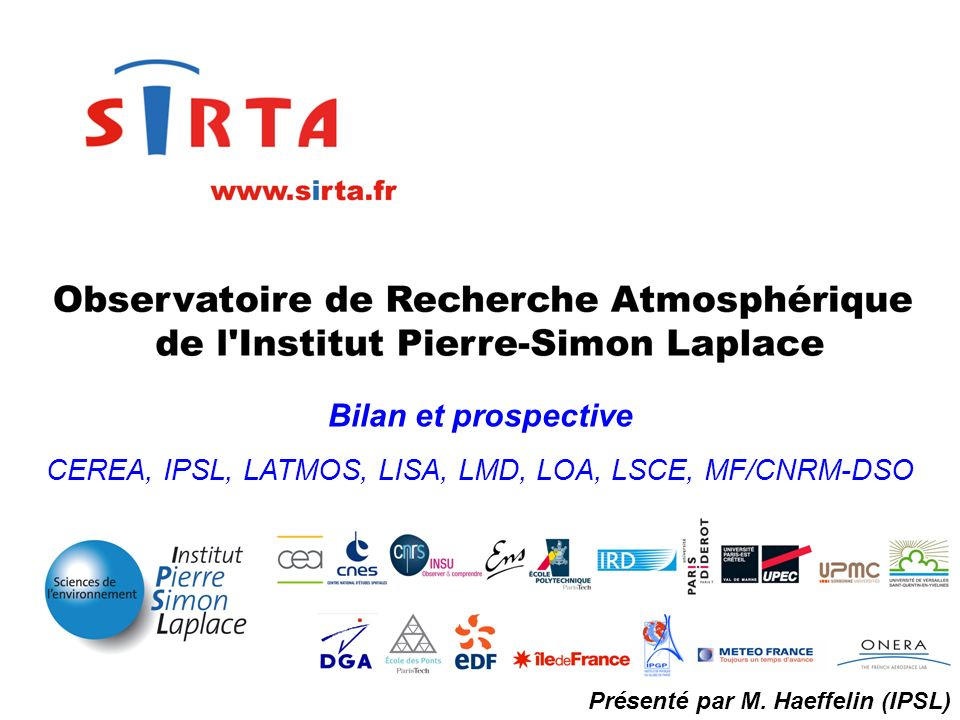 CEREA, IPSL, LATMOS, LISA, LMD, LOA, LSCE, MF/CNRM-DSO