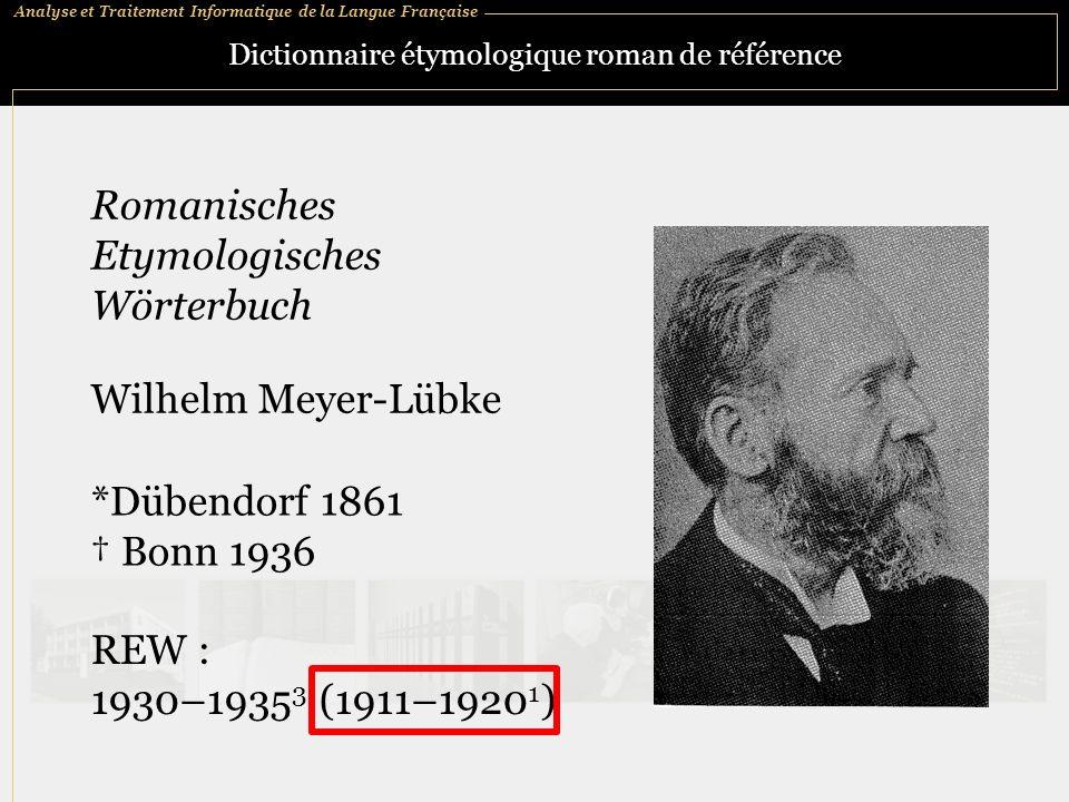 Dictionnaire étymologique roman de référence