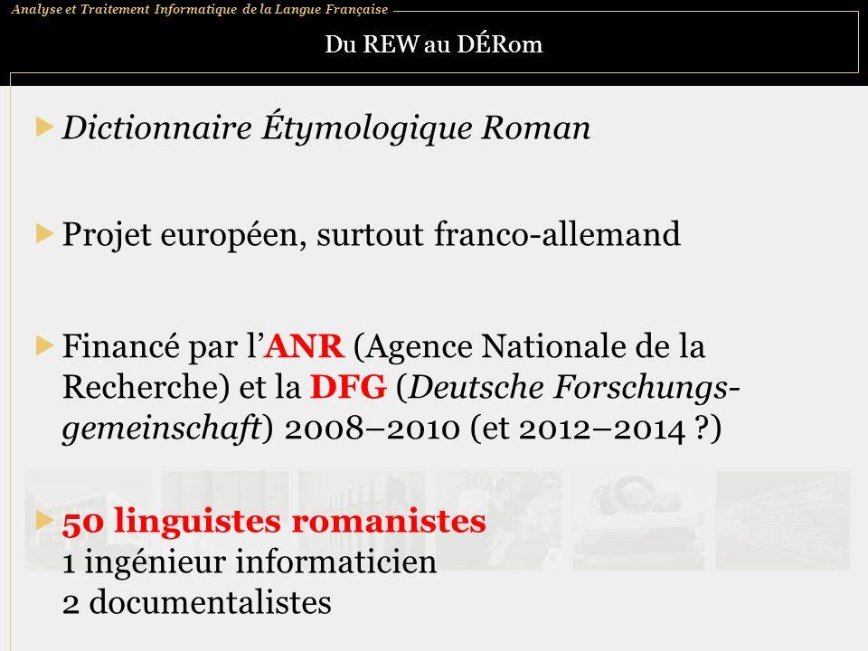 Dictionnaire Étymologique Roman