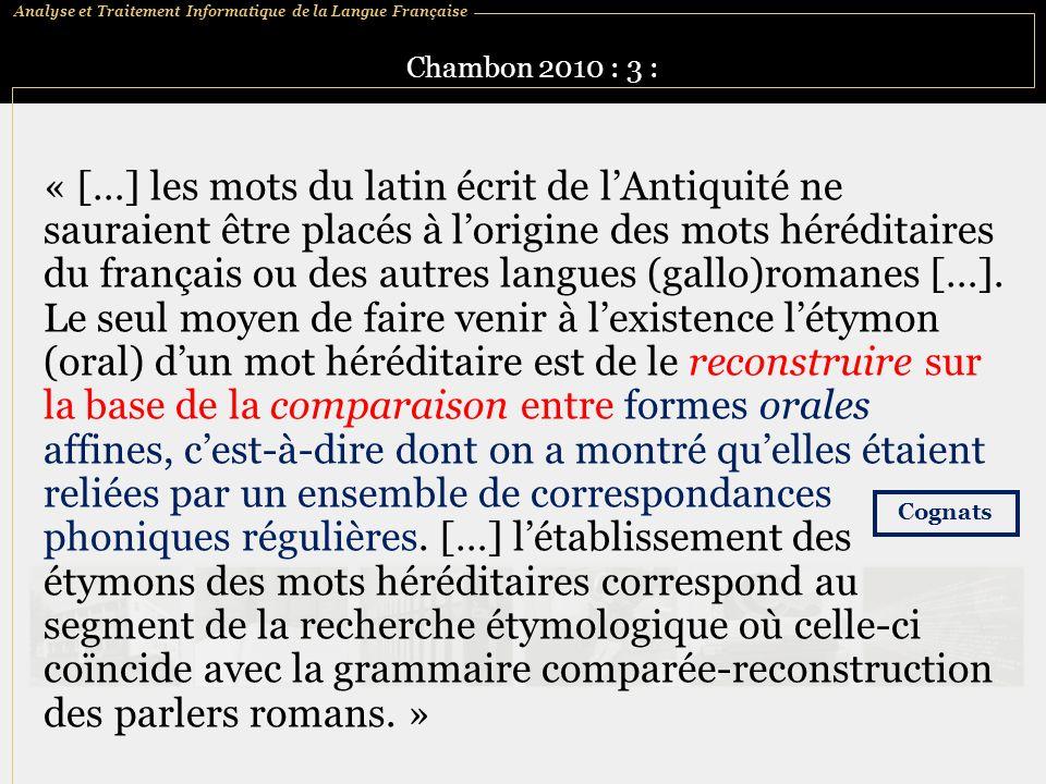 Chambon 2010 : 3 :